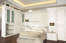 Fashion white cabinet with mdf carved board for home furniture