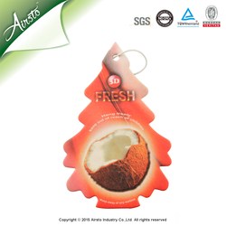 Fine Fragrance Promotional Custom Hemp Paper Car Air Freshener