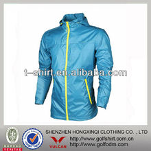 Turquise polyester trimmed golf coat wholesale