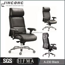 Executive Reclining Leather Office Chair with Head Support