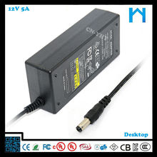 dc led power supply network adapter switching ac dc adapter 12V 5A UL CE GS SAA 60W