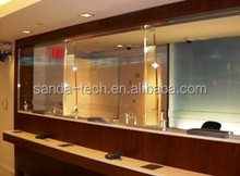 bulletproof glass for bank counter (laminated glass,glass+PC)