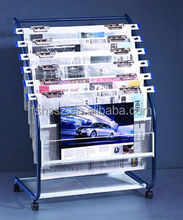 Free Standing Display Stand For Newspaper And Magazine HS-NS05