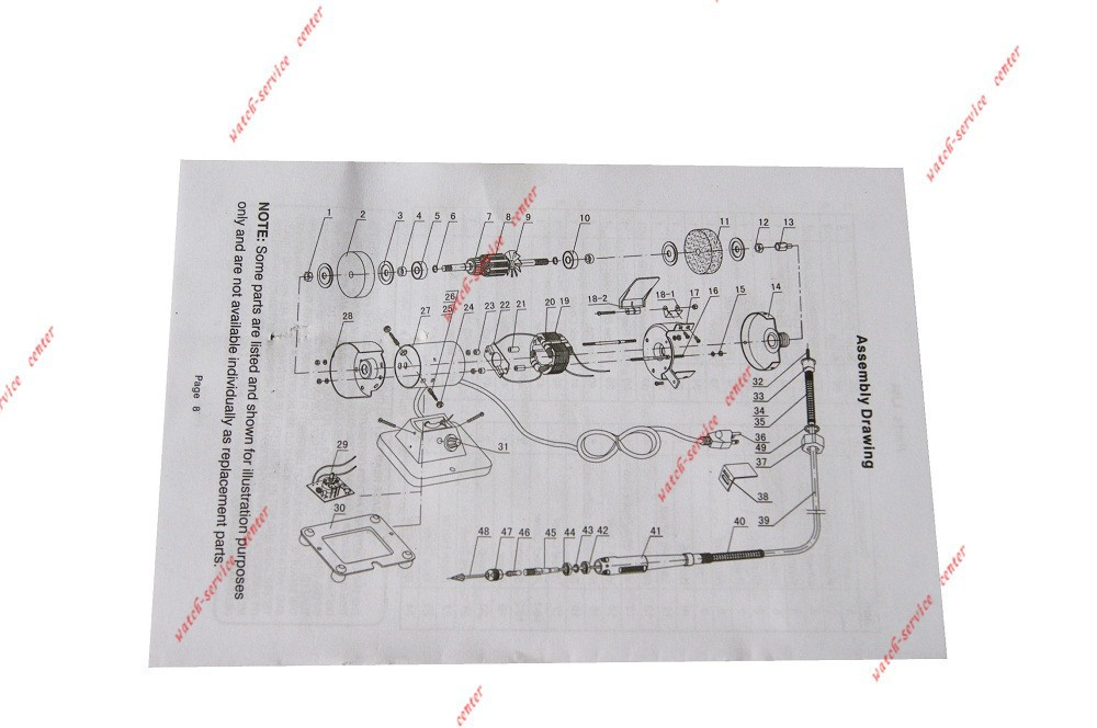 Мини W / поворотный гибкий вал Die резьба часы инструменты для ремонта
