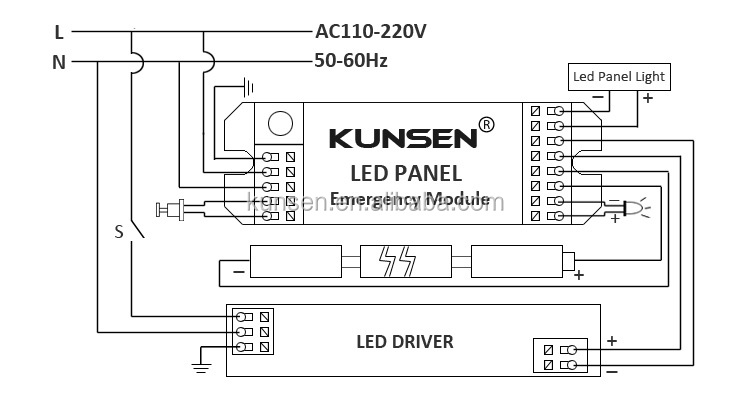 Emergency Lighting Rechargeable Battery And Inverter For