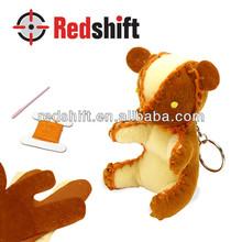 Material didáctico haga su sewing bear llavero