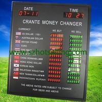 bank rate digital display / \ 12 rows led electronic exchange rate/100% Response Rate/Babbitt (Diyatel, Model No.BT18-60H50LR+G)