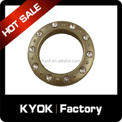 High-end 10 diamond curtain eyelet rings, colorful silent curtain rings wholesale to Russia