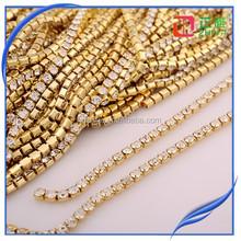 chunky chain link bracelet with rhinestone women,brass rhinestone cup chain trimming,colour rhinestone chain