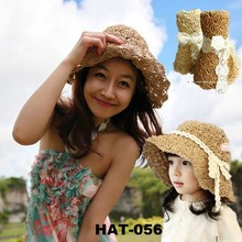 2015 Fashion Cute Girl Baby Lace Hat Caps for Mother and child