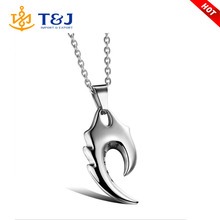 >>>New Men Jewelry Fashion Stainless Steel Two Tone Flame Pendant Necklace for Men Chain Included 55cm colgantes hombre