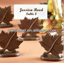 Classic Maple Leaf metal Place Card Holder table decoration