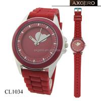 ladies geneva japan movt quartz promotional silicone rubber watch