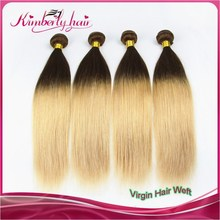 Alibaba Website Silk Straight Human Hair Weave Cheap Wholesale #4 #27 Colored Two Tone Remy Hair Extension