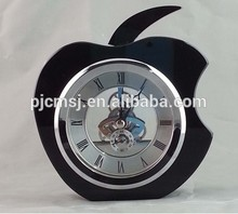 2015 office stationery crystal desk clock apple clock for business gift or home decoration