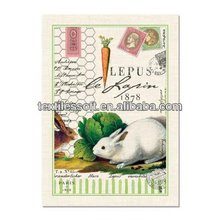 Cotton fiber Bunny Rabbit tea towel