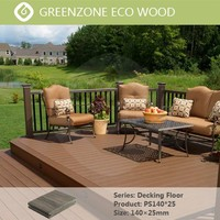 High quality easy to clean new tech outdoor decking wood vinyl wpc floor