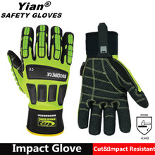 Ottoman impact construction safety mechanic work glove for anti abrasion