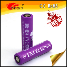 Best selling 18650 battery, high drain IMREN 18650 2250mAh 40A 3.7V Li-Mn high drain rechargeable battery PK VTC5