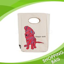 Silk Printing Custom Logo D-Cut Handle Cotton Canvas Shopping Bag