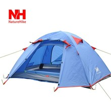 Polyster Aluminum Pole Tent For 3 Person Hiking Camping Activities