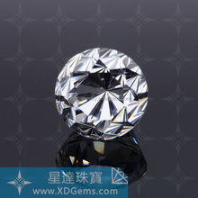 Wuzhou wholesale star cut heart and arrow round synthetic diamond,cz gemstones
