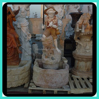 Natural Stone Marble Boy Fishing Fountain