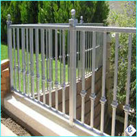 Galvanized Powder Coated 2-Rail Flat Top home and garden fence