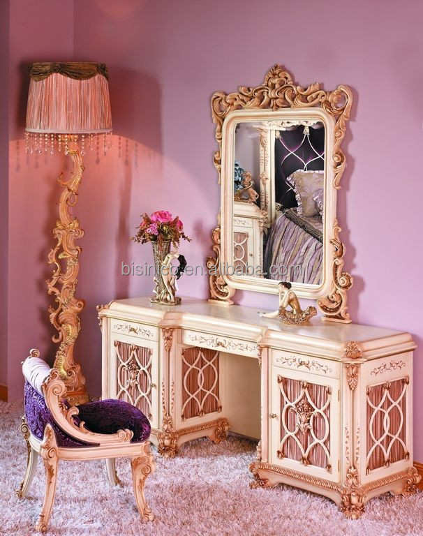 BISINI Luxury French Baroque Bedroom Furniture European Exquisite