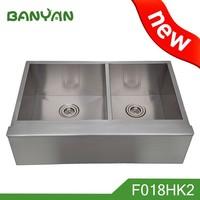 inox american double bowl fitting handmade kitchen sink
