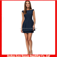 HC4043 High Quality Cheap Price The Hot Sale A-line Satin Tip of The Shoulder Short Cocktail Dress 2013