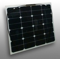 High efficiency PET/ PVDF back-contact Sunpower USA semi flexible solar panel 50w for Camping, Caravan and Yacht