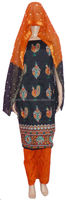 Silk Bandhej Shalwar Kameez For Women