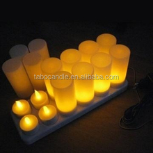 LED illuminated waterproof recharging battery operated floating candles