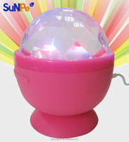 Mini Cute Wireless Bluetooth Bathroom Speaker with Color Spinning Ball