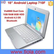 Cheap China 10 inch Mini Laptop with Bluetooth WIFI 710F