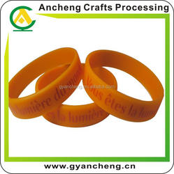 Personalised cheapest supplier for glowing silicone bracelet manufacturer for corporate gifts