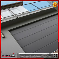 8 panel automatic folding steel garage entry doors made in China