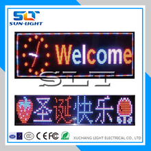 Top selling lighting led street/coffee/bar/shop display signs outdoor programmable led signs