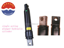 bore 50mm stroke 250mm nonstandard steel body single acting Plunger Type Hydraulic Cylinders used for snow plow