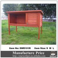 2015 Hot sale outdoor wooden rabbit house
