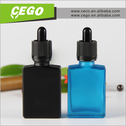 frosted glass water bottle black frosted/matte 30ml glass dropper bottles with childproof dropper