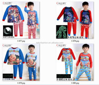 Upin&lpin kids pajamas wholesale transformer childrens pyjamas sleepwear boy luminous