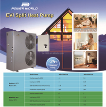 No Freezing in -25DegC Outstanding BTU Split EVI Air Source Heat Pump for Living Hot Water and Home Heating