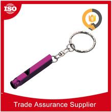 OEM ODM factory laser logo aluminum whistle key finder alarm whistle