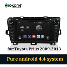 Android 4.4 pure 3g wifi car dvd stereo player with bluetooth gps for Toyota prius 2009-2013