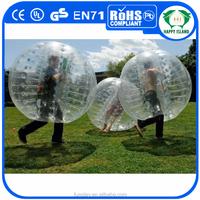 HI Hot Sales! 1.0mm 100% TPU bubble ball for football, bubble soccer ball, bumper ball