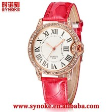 Lovely girl Gift color butterfly genuine leather watch case