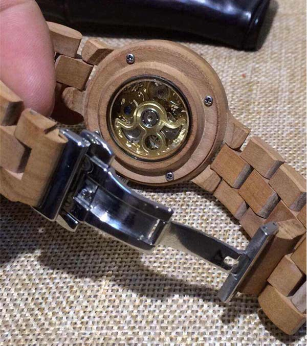 new wood watches, new design wooden watch, mechanical wooden watch