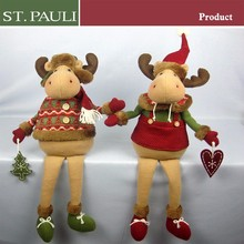 new listing christmas holiday home decorative reindeer stuffed animals